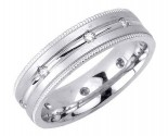 Diamond Wedding Band 14K White Gold 0.32 cts. DWB-2256