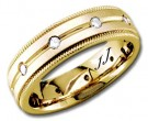Diamond Wedding Band 14K Yellow Gold 0.32 cts DYWB-2256