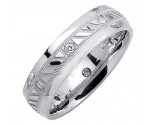 Diamond Wedding Band 14K White Gold 0.16 cts. DWB-2257