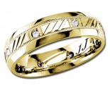 Diamond Wedding Band 14K Yellow Gold 0.16 cts DYWB-2257