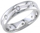 Diamond Wedding Band 14K White Gold 0.16 cts. DWB-2258