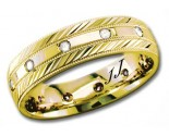 Diamond Wedding Band 14K Yellow Gold 0.24 cts DYWB-2259