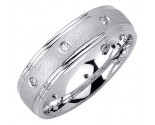 Diamond Wedding Band 14K White Gold 0.16 cts. DWB-2260