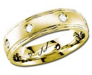 Diamond Wedding Band 14K Yellow Gold 0.16 cts DYWB-2260