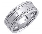 Diamond Wedding Band 14K White Gold 0.16 cts. DWB-2261