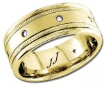 Diamond Wedding Band 14K Yellow Gold 0.16 cts DYWB-2261