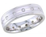 Diamond Wedding Band 14K White Gold 0.32 cts. DWB-2351