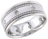 Diamond Wedding Band 14K White Gold 0.16 cts. DWB-2352