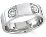 Diamond Wedding Band 14K White Gold 0.12 cts. DWB-2356