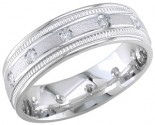 Diamond Wedding Band 14K White Gold 0.24 cts. DWB-2357