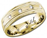 Diamond Wedding Band 14K Yellow Gold 0.24 cts DYWB-2357