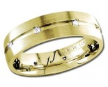 Diamond Wedding Band 14K Yellow Gold 0.16 cts DYWB-2359
