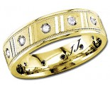Diamond Wedding Band 14K Yellow Gold 0.24 cts DYWB-2360
