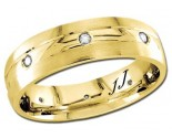 Diamond Wedding Band 14K Yellow Gold 0.16 cts DYWB-2361