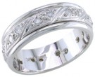 Diamond Wedding Band 14K White Gold 0.54 cts. DWB-2451