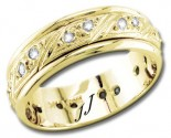 Diamond Wedding Band 14K Yellow Gold 0.54 cts DYWB-2451