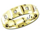 Diamond Wedding Band 14K Yellow Gold 0.24 cts DYWB-2452