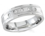 Diamond Wedding Band 14K White Gold 0.10 cts. DWB-2453