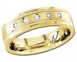 Diamond Wedding Band 14K Yellow Gold 0.10 cts DYWB-2453