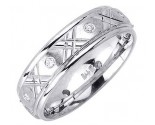 Diamond Wedding Band 14K White Gold 0.16 cts. DWB-2454