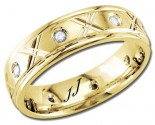 Diamond Wedding Band 14K YellowGold 0.16 cts DYWB-2454