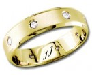 Diamond Wedding Band 14K Yellow Gold 0.16 cts DYWB-2455