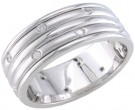 Diamond Wedding Band 14K White Gold 0.24 cts. DWB-2457