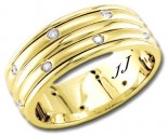Diamond Wedding Band 14K Yellow Gold 0.24 cts DYWB-2457