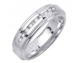 Diamond Wedding Band 14K White Gold 0.20 cts. DWB-2458