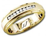Diamond Wedding Band 14K Yellow Gold 0.20 cts DYWB-2458