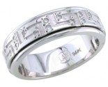 Diamond Wedding Band 14K White Gold 0.34 cts. DWB-2459
