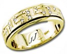 Diamond Wedding Band 14K Yellow Gold 0.34 cts DYWB-2459