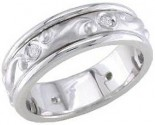 Diamond Wedding Band 14K White Gold 0.16 cts. DWB-2460