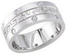 Diamond Wedding Band 14K White Gold 0.32 cts. DWB-2461