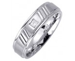 Diamond Wedding Band 14K White Gold 0.10 cts. DWB-2552