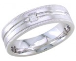 Diamond Wedding Band 14K White Gold 0.10 cts. DWB-2553
