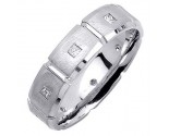 Diamond Wedding Band 14K White Gold 0.40 cts. DWB-2554