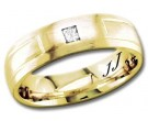 Diamond Wedding Band 14K Yellow Gold 0.10 cts DYWB-2557