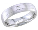 Diamond Wedding Band 14K White Gold 0.10 cts. DWB-2558