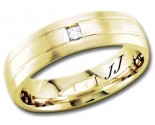 Diamond Wedding Band 14K Yellow Gold 0.10 cts DYWB-2558