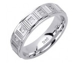 Diamond Wedding Band 14K White Gold 0.25 cts. DWB-2559