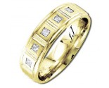 Diamond Wedding Band 14K Yellow Gold 0.25 cts DYWB-2559