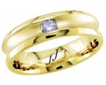 Diamond Wedding Band 14K Yellow Gold 0.14 cts DYWB-2560