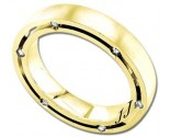 Diamond Wedding Band 14K Yellow Gold 0.36 cts DYWB-2561