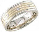 Diamond Wedding Band 14K Two Tone Gold 0.32 cts. DWB-2651