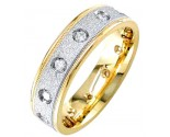 Diamond Wedding Band 14K Two Tone Gold 0.32 cts. DWB-2653