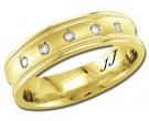 Diamond Wedding Band 14K Yellow Gold 0.10 cts. DYWB-2662