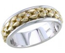 Diamond Wedding Band 14K Two Tone Gold 0.18 cts. DWB-2764