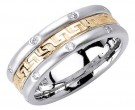 Diamond Wedding Band 14K Two Tone Gold 0.24 cts. DWB-2766