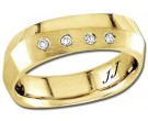 Diamond Wedding Band 14K Yellow Gold 0.08 cts DYWB-2851